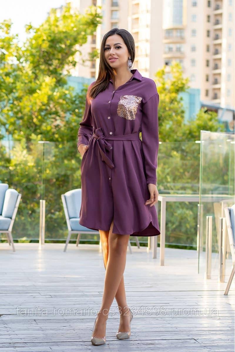 Повседневное платье 9166e Фиолетовый