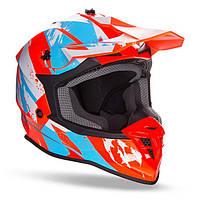 Мото шлем GEON 633 MX FOX CROSS BLUE/NEON ORANGE