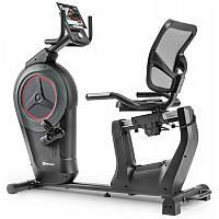 Горизонтальный велотренажер электромагнитный Hop-Sport HS-100L Edge iConsole+ мат для дома и спортзала
