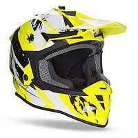 Мото шлем GEON 633 MX FOX CROSS BLACK/NEON YELLOW