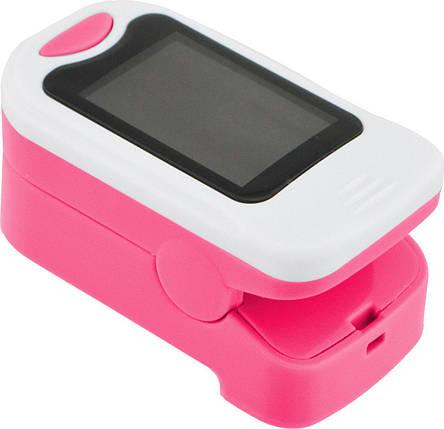 Пульсометр оксиметр напальченый (пульсоксиметр) UKC BL-230B White/Pink, фото 2