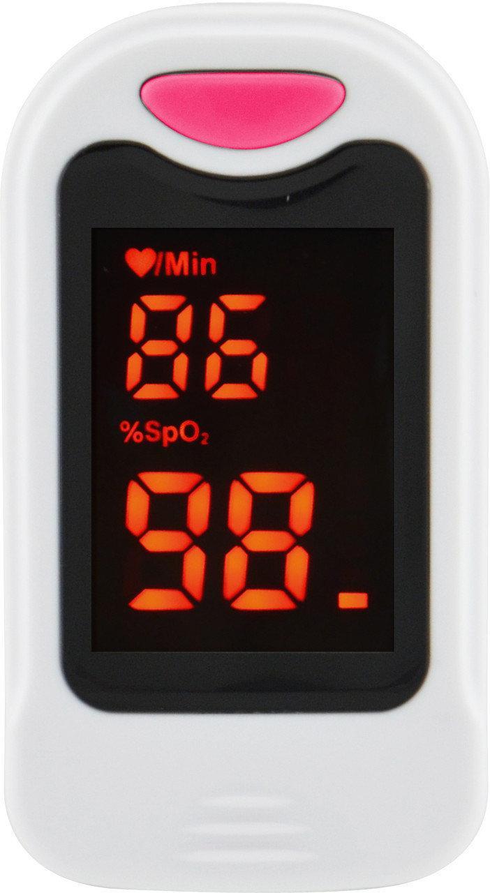 Пульсометр оксиметр напальченый (пульсоксиметр) UKC BL-230B White/Pink