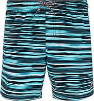 Шорты плавательные мужские Speedo Prt Leis 16, черный/голубой/белый, 46-48