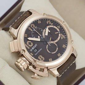 Наручные часы премиум U-boat Italo Fontana Chimera Brown/Gold/Brown AAA