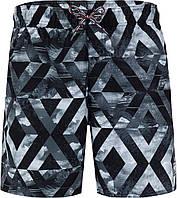 Шорты плавательные мужские Speedo Prt Leis 16, черный/серый/белый, 46-48