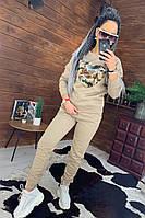 Молодежный прогулочный костюм брюки и кофта утепленные флисом, фото 1