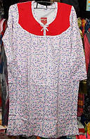 Ночная сорочка с начесом длинный рукав 100% хлопок размер 50-52