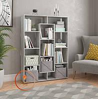 Полка для книг, стеллаж для дома на 11 ячеек. ДСП. P0009