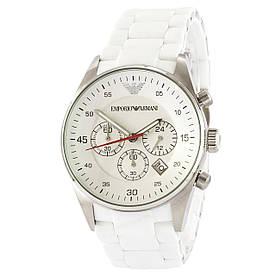 Наручные часы премиум Emporio Armani AR-5905 White-Silver Silicone