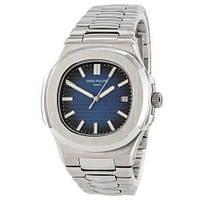 Наручные часы премиум Patek Philippe Nautilus Silver-Blue