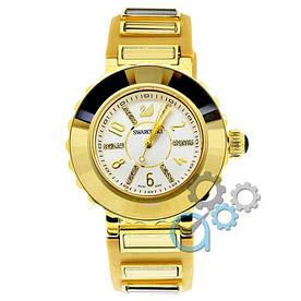 Наручные часы премиум Swarovski Brilliant Beige-Gold-White