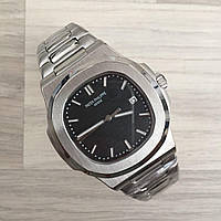 Наручные часы премиум Patek Philippe Nautilus Silver-Black