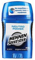 Mennen Speed Stick Твердый дезодорант Neutro Power