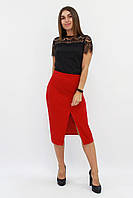 S, M, L, XL / Класична жіноча спідниця-олівець Hizer, червоний