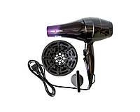 Профессиональный фен для волос Promotec Черно-фиолетовый (2040)