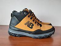 Чоловічі зимові черевики жовті спортивні прошиті теплі ( код 8311 ), фото 1