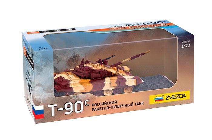Т-90С российский ракетно-пушечный танк. Модель танка в масштабе 1/72. ЗВЕЗДА 2500