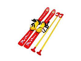 Лыжи с палками детские (Красные)