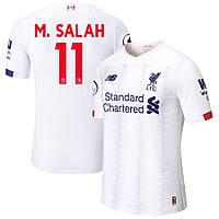 Детская футбольная форма Ливерпуль M. SALAH 11 сезон 2019-2020 запасная белая, фото 1