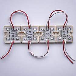 Модуль SMD3528 4LED IP65 красный