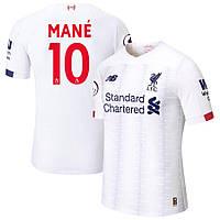 Футбольная форма Ливерпуль MANE 10 сезон 2019-2020 запасная белая, фото 1