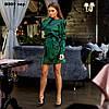 Платье атласное с длинным рукавом 8009 тер, фото 3