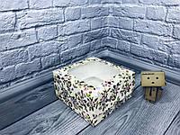 *10 шт* / Коробка для 4-ох кексов / 170х170х90 мм / печать-Весна / окно-обычн / лк / цв, фото 1