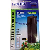 Внутренний фильтр в аквариум Hidom Ap-1000L (до 80 л) с флейтой и регулировкой потока