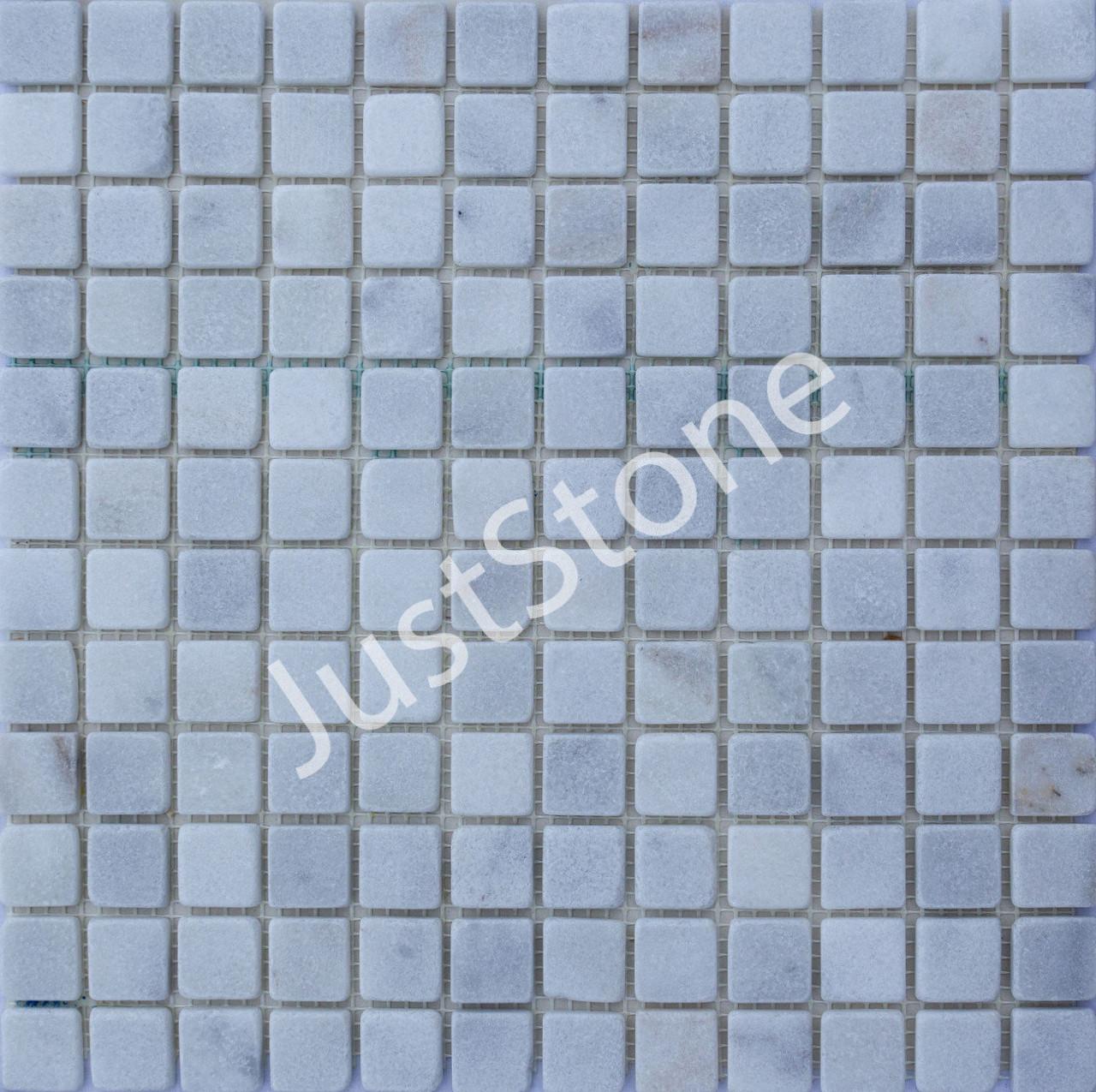 Мозаичная плитка Стар.Валт. МКР-2СВ (23х23) 6 мм White BI