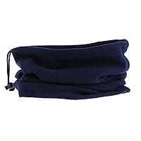 Флисовый теплый бафф (шарф рукав) темно-синий, с затяжкой и фиксатором