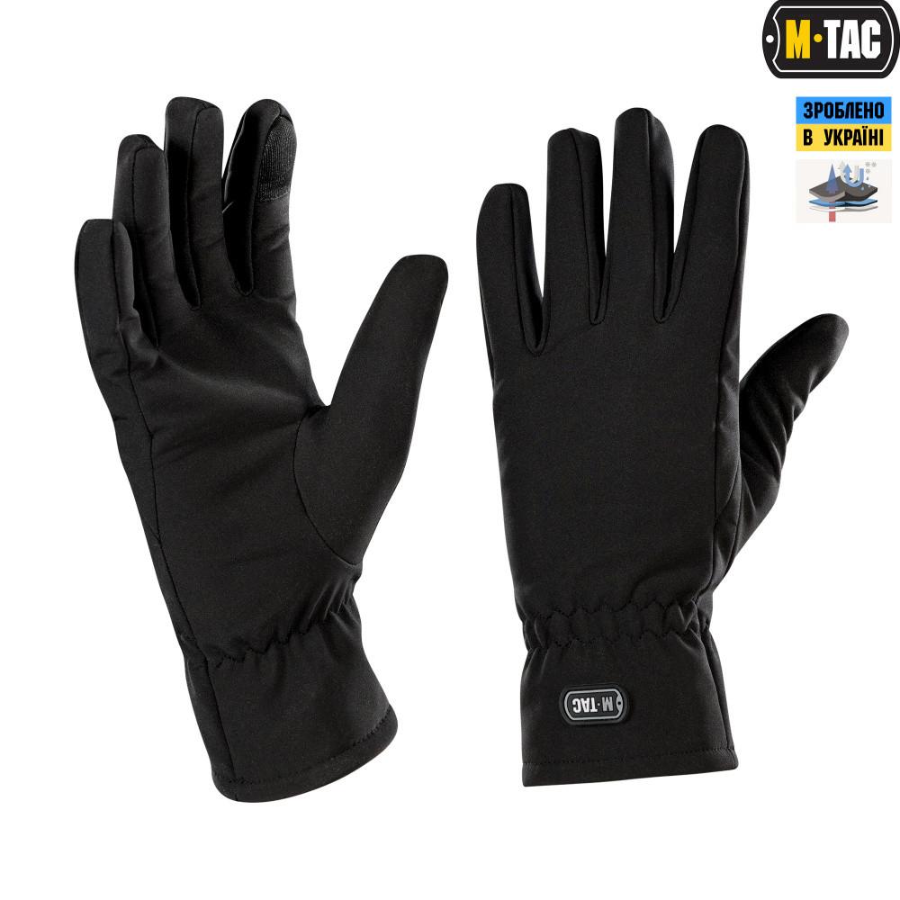 M-Tac перчатки Soft Shell Winter Black