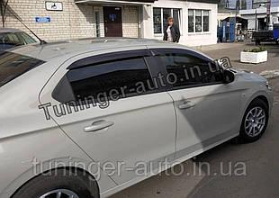 Ветровики, дефлекторы окон Peugeot 301 2012- /Citroën C-Elysée 2012-  (Anv)