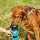 Дорожная поилка для собак Aqua Dog 537 мл Blue (n-121), фото 3