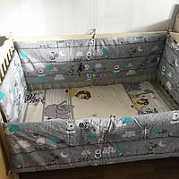 """Защита для детской кроватки 120х60 см, """"Зеброчка"""""""