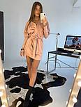 Женское замшевое платье с поясом (в расцветках), фото 2
