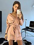 Женское замшевое платье с поясом (в расцветках), фото 3