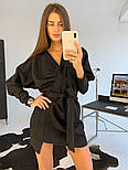 Женское замшевое платье с поясом (в расцветках), фото 4