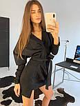 Женское замшевое платье с поясом (в расцветках), фото 5