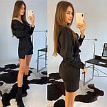 Женское замшевое платье с поясом (в расцветках), фото 6