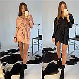 Женское замшевое платье с поясом (в расцветках), фото 7