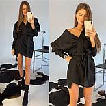 Женское замшевое платье с поясом (в расцветках), фото 8