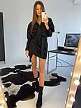 Женское замшевое платье с поясом (в расцветках), фото 9