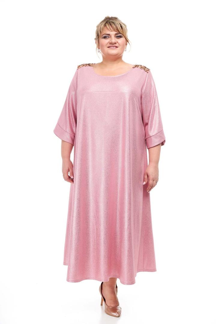 Женское платье размера плюс Сирена розовый (66-72)