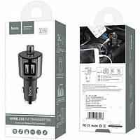 FM-трансмиттер, модулятор Hoco E19 Bluetooth 2 USB зарядное, фото 1