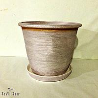 Цветочный горшок из керамики 10л (25х31см)