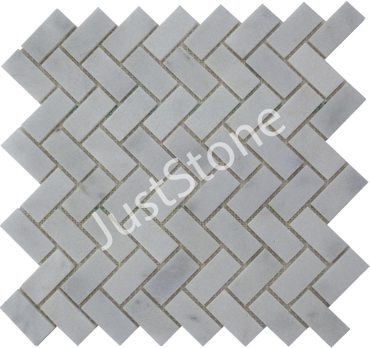Мраморная Мозаика Полированная МКР-5П (47х23) 6 мм White Mix