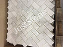 Мраморная Мозаика Полированная МКР-5П (47х23) 6 мм White Mix, фото 3