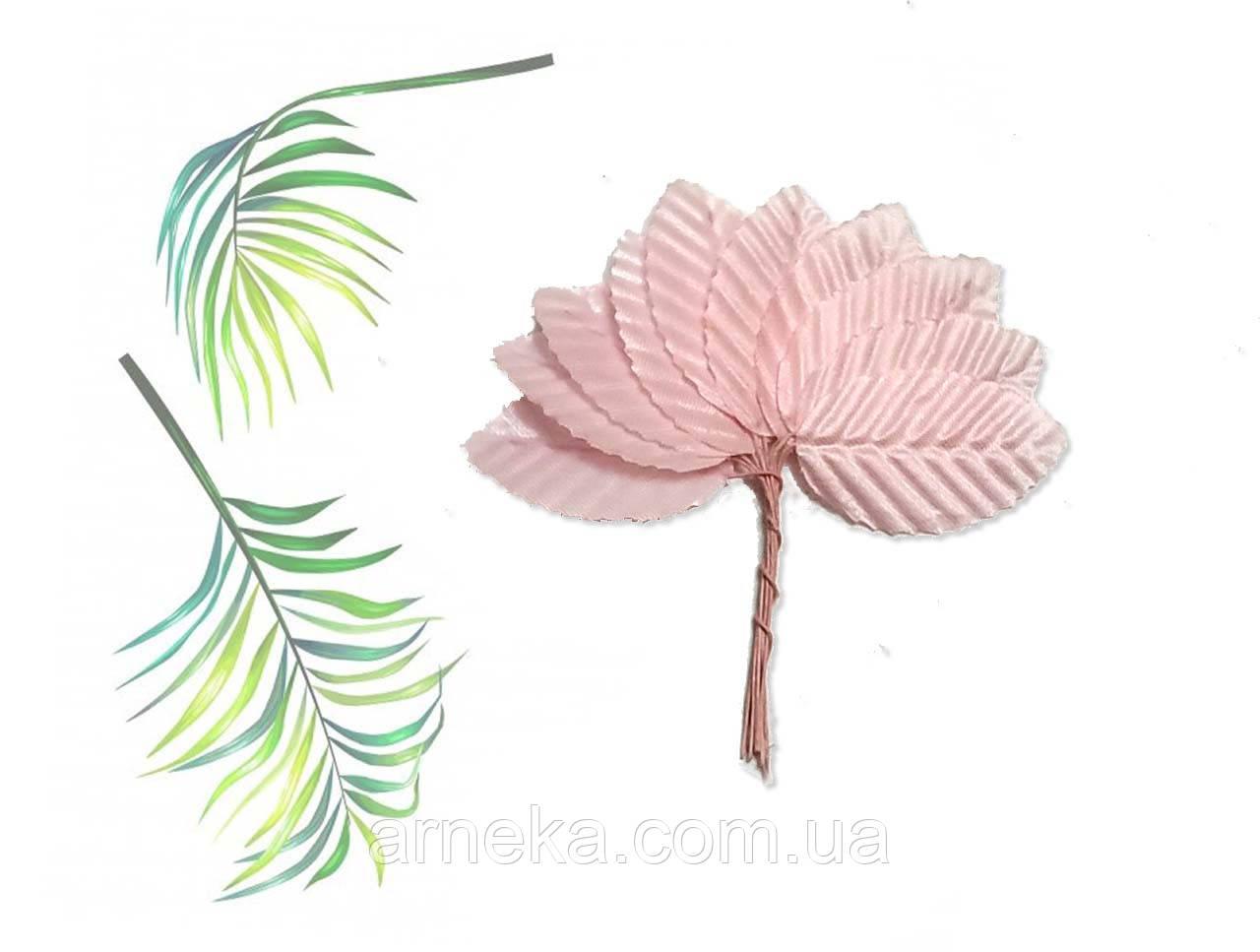 Листик на веточке розовые