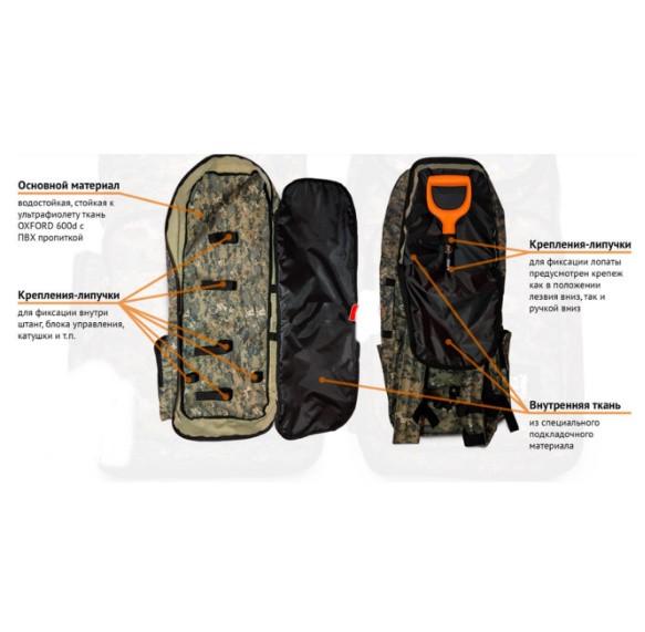 Рюкзак для металлоискателя и лопаты - Oxford 600d