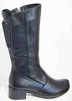 Сапоги женские зимние кожаные большого размера на низком каблуке от производителя модель МИ1432K-2